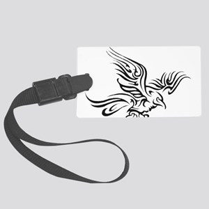 Crow Tribal Painting Faded Large Luggage Tag