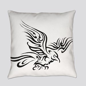 Crow Tribal Painting Faded Everyday Pillow
