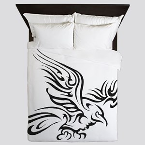 Crow Tribal Painting Faded Queen Duvet