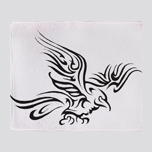 Crow Tribal Painting Faded Throw Blanket