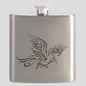 Crow Tribal Painting Faded Flask