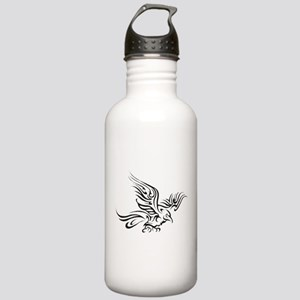 Crow Tribal Painting Faded Sports Water Bottle