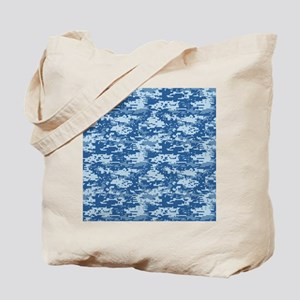 CAMO DIGITAL NAVY Tote Bag