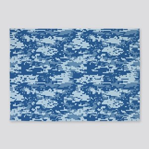 CAMO DIGITAL NAVY 5'x7'Area Rug