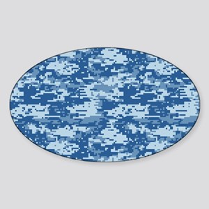 CAMO DIGITAL NAVY Sticker (Oval)