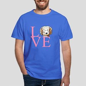 KiniArt Doodle Love Dark T-Shirt
