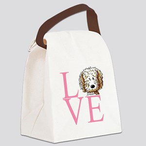 KiniArt Doodle Love Canvas Lunch Bag