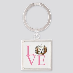 KiniArt Doodle Love Square Keychain