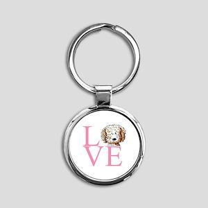 KiniArt Doodle Love Round Keychain