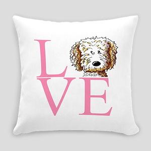 KiniArt Doodle Love Everyday Pillow
