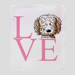 KiniArt Doodle Love Throw Blanket