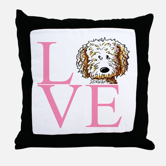 KiniArt Doodle Love Throw Pillow