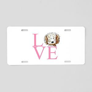 KiniArt Doodle Love Aluminum License Plate