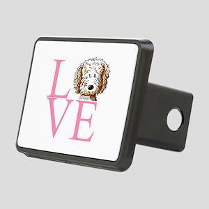 KiniArt Doodle Love Rectangular Hitch Cover