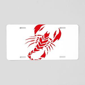 Tribal scorpion tattoo Aluminum License Plate