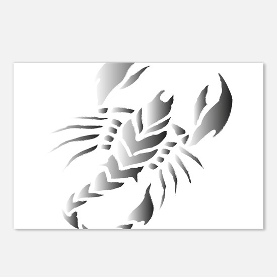 Tribal scorpion tattoo Postcards (Package of 8)