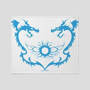 Twin dragons soul battle Throw Blanket