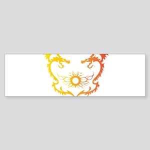 Twin dragons soul battle Bumper Sticker
