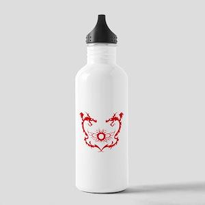 Twin dragons soul battle Sports Water Bottle
