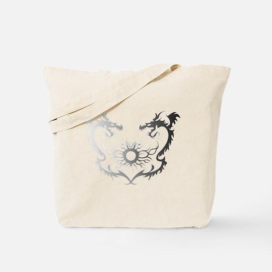 Twin dragons soul battle Tote Bag