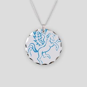 winged horse pegasus Necklace Circle Charm