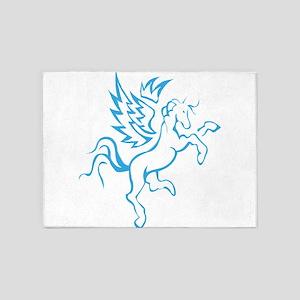 winged horse pegasus 5'x7'Area Rug