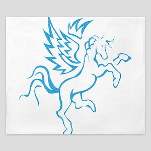 winged horse pegasus King Duvet