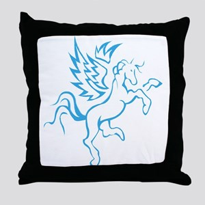winged horse pegasus Throw Pillow