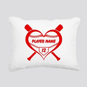 Personalized Baseball Player Heart Rectangular Can