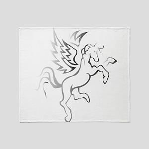 winged horse pegasus Throw Blanket