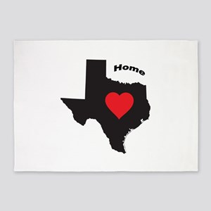 Texas is home 5'x7'Area Rug