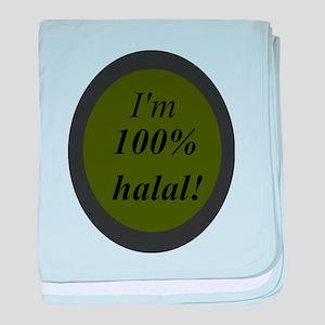 Halal 100% Islam Love you all baby blanket