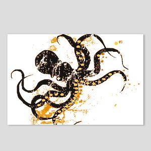 Octopus ink splatter Postcards (Package of 8)