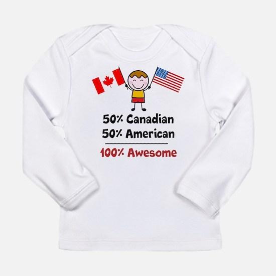 Custom add flag and cou Long Sleeve Infant T-Shirt