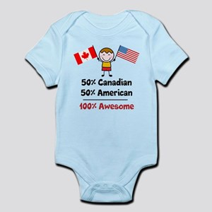 Custom add flag and country Infant Bodysuit