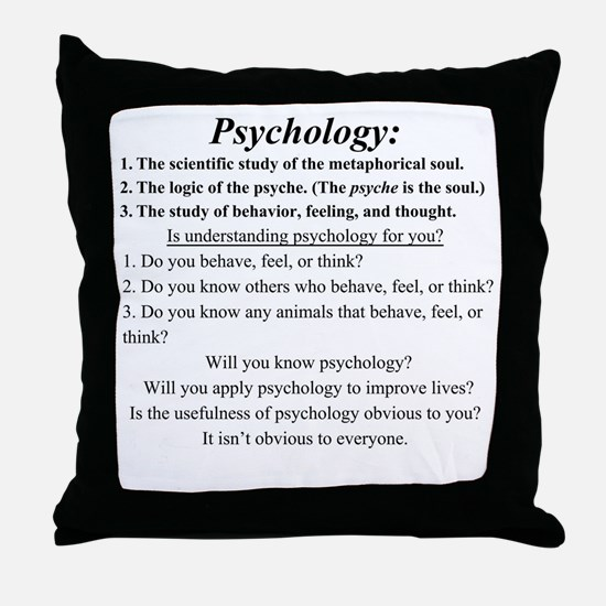 Cute Psychology Throw Pillow