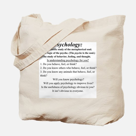 Cute Psychology Tote Bag