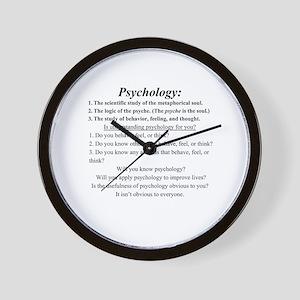 Psychology wall clocks cafepress wall clock ccuart Image collections