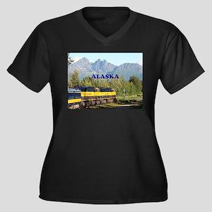 Alaska Railroad & mountains (cap Plus Size T-Shirt