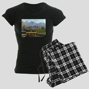 Alaska Railroad & mountains Women's Dark Pajamas