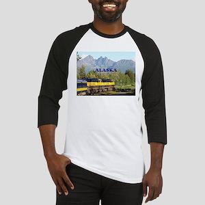 Alaska Railroad & mountains (capti Baseball Jersey