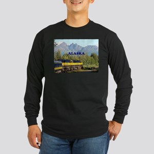 Alaska Railroad & mountains (c Long Sleeve T-Shirt