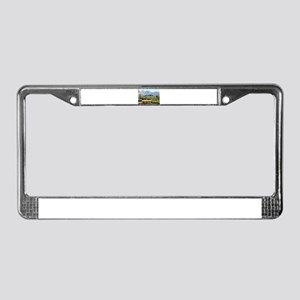Alaska Railroad & mountains (c License Plate Frame