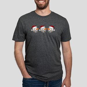 Christmas Baseball Snowman T-Shirt