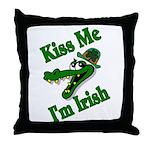 Kiss Me I'm Irish Throw Pillow