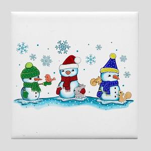 Snowman Friends Tile Coaster