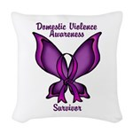 Domestic Violence Awareness Woven Throw Pillow