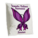 Domestic Violence Awareness Butterfly Ribbon Burla