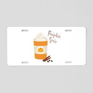 Pumpkin Spice Aluminum License Plate