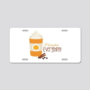 Pumpkin Everything Aluminum License Plate